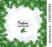 fir branches. template for... | Shutterstock .eps vector #1238103085