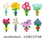 fresh flowers bouquets. summer... | Shutterstock .eps vector #1238113768
