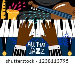 jazz piano poster. blues and... | Shutterstock .eps vector #1238113795