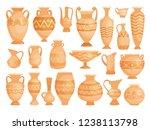 greek vases. ancient decorative ... | Shutterstock .eps vector #1238113798