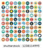 sport flat icons set. vector... | Shutterstock .eps vector #1238114995