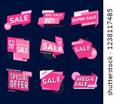 shop sale promotion... | Shutterstock .eps vector #1238117485