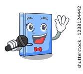 singing office binder mascot... | Shutterstock .eps vector #1238124442