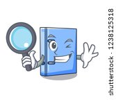 detective office binder with... | Shutterstock .eps vector #1238125318