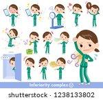 a set of women in sportswear on ... | Shutterstock .eps vector #1238133802