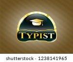 golden emblem or badge with... | Shutterstock .eps vector #1238141965
