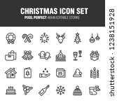 this is a set of christmas... | Shutterstock .eps vector #1238151928
