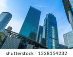 low angle view of skyscrapers... | Shutterstock . vector #1238154232