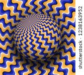 optical illusion vector... | Shutterstock .eps vector #1238163952