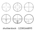 set of ar crosshair scopes.... | Shutterstock .eps vector #1238166895