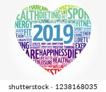 2019 heart sport word cloud... | Shutterstock . vector #1238168035