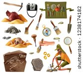 archeology set of isolated... | Shutterstock .eps vector #1238174182