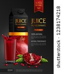 natural pomegranate juice... | Shutterstock .eps vector #1238174218