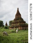 small stupas and temples with...   Shutterstock . vector #1238177278