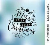 merry christmas typography. | Shutterstock .eps vector #1238181262