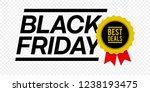 black friday best deals medal... | Shutterstock .eps vector #1238193475