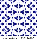 blue and white ceramic pattern... | Shutterstock .eps vector #1238194105