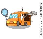 detective food truck with... | Shutterstock .eps vector #1238201335