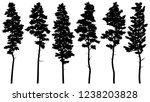 set of vector silhouettes of... | Shutterstock .eps vector #1238203828