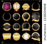 retro vintage golden labels and ... | Shutterstock .eps vector #1238204848