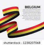 belgium flag for decorative... | Shutterstock .eps vector #1238207068