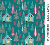 winter landscape seamless...   Shutterstock .eps vector #1238212498