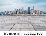 road ground and urban skyline... | Shutterstock . vector #1238217538