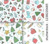 set of hand drawn christmas...   Shutterstock .eps vector #1238220685