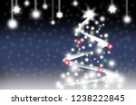 merry christmas and happy new...   Shutterstock . vector #1238222845