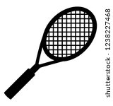 solid icon design of racket | Shutterstock .eps vector #1238227468