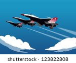 military airplane speed | Shutterstock .eps vector #123822808
