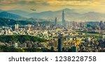 Sunset Panorama Of Taipei...