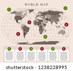 simplified world map with... | Shutterstock .eps vector #1238228995