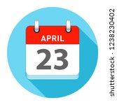 april 23 date on a single day...   Shutterstock .eps vector #1238230402