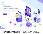 development team at work... | Shutterstock . vector #1238240062