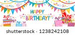 happy birthday banner. greeting ... | Shutterstock .eps vector #1238242108