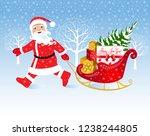 christmas vector illustration.... | Shutterstock .eps vector #1238244805