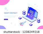 smart contract concept. can use ... | Shutterstock . vector #1238249218
