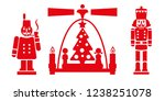 nutcracker  christmas pyramid... | Shutterstock .eps vector #1238251078