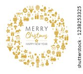 merry christmas and happy new... | Shutterstock .eps vector #1238253325