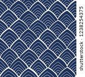 blue seamless vector pattern...   Shutterstock .eps vector #1238254375