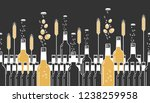 beer bottles  hops and wheat.... | Shutterstock .eps vector #1238259958