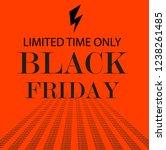 black friday sale promo poster. ... | Shutterstock .eps vector #1238261485