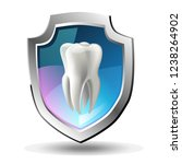a tooth shield concept of a... | Shutterstock .eps vector #1238264902