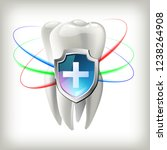 a tooth shield concept of a... | Shutterstock .eps vector #1238264908