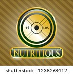 gold badge or emblem with... | Shutterstock .eps vector #1238268412