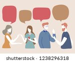 vector illustration  social... | Shutterstock .eps vector #1238296318