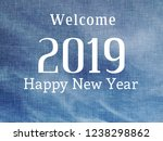 happy new year 2019. colorful...   Shutterstock . vector #1238298862