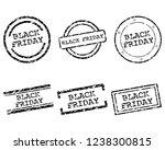 black friday stamps | Shutterstock .eps vector #1238300815