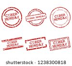cyber monday stamps | Shutterstock .eps vector #1238300818